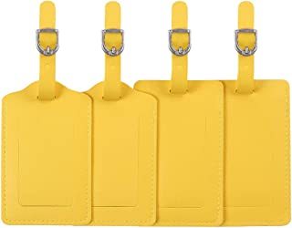 Leather Luggage Tags 4 Pack
