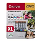 Canon PGI-270XL, CLI-271XL C/M/Y/K Ink Cartridges Value Pack (5 Cartridges)
