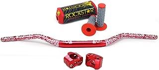 28mm Handlebar Set Dirt Bike Handlebars Universal Fat Bars Motorcycle Handlebars Grips bar Pad Pit Bike Handlebar Exchange Risers For For Honda CFR250R CFR450R CFR450X CFR250X XR250 Red