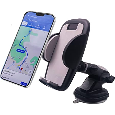 CQLEK® Ultimate Car Mobile Holder/Car Mount Ultimate Quality Long Neck 360° Rotation with Ultimate Reusable Suction Cup for Car Dashboard/Car Windshield/Desktop