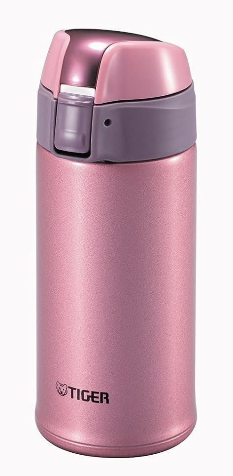 ピン主張するごみタイガー水筒 ステンレスミニボトル 「サハラマグ」 ワンプッシュ ブライトピンク 0.35L MMQ-S035-PH