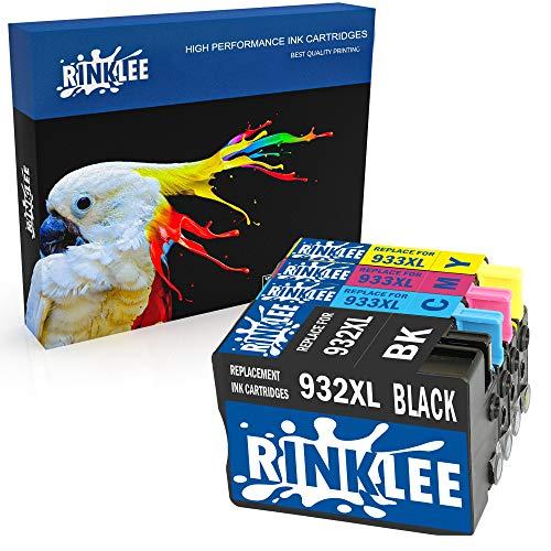 RINKLEE 4 Compatibles 932XL 933XL 932 933 XL Alta Capacidad Cartuchos de Tinta Reemplazo para HP Officejet 6600 6700 7110 7610 7612 7620 6100 7510 7600