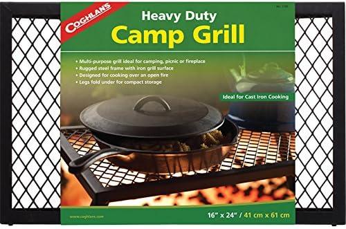 Coghlans Heavy Duty Camp Grill - Hornillo portátil para Acampada