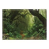 Assanu 自然の風景の装飾原生林のバスラグ滑り止め玄関フロア玄関屋外屋内フロントドアマットキッズバスマット15.7x23.6inバスルームアクセサリー