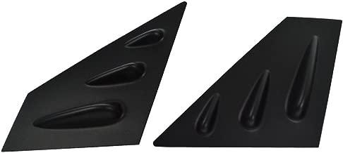 Window Louver Compatible With 2015-2018 Subaru Impreza WRX & STI | STI Style ABS Unpainted Black Sun Rain Wind Guards Shield Vent by IKON MOTORSPORTS | 2016 2017