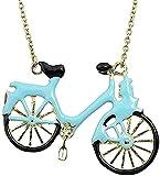 YOUZYHG co.,ltd Collar Collar Lindo Gota de Aceite Azul Bicicleta Aleación Collares Regalo para Mujeres Hombres Regalo
