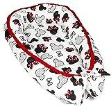 Nido para Bebe 90x50 cm - Reductor de Cuna Nido Bebe Recien Nacido algodón con Certificado Oeko-Tex Diseño de ratón