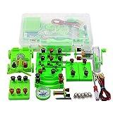 BILXXY Caja de experimentos de física, Caja de experimentos de Electricidad de física para escuelas primarias,Juego de experimentos de Circuito eléctrico introductorio, Juguetes educativos de Ciencia