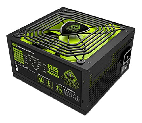 Keep Out Gaming FX900 - Fuente de alimentación de 900 W, Color Negro y Verde