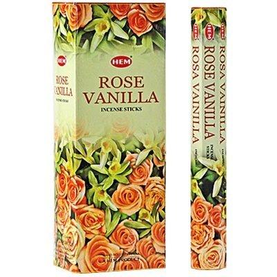 Ourlet Lot de 6 20 bâton Rose Vanille – Boîte de six 20 bâton tubes – Ourlet Encens