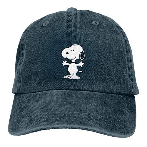 MANDUCK Unisex Snoopy Retro Cowboy Hat Sports Baseball Caps Adjustable Classic Cotton Adult Hats for Mans Women Navy