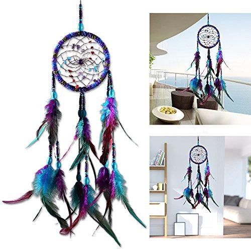 ksruee Coloré ethnique laine fil Dreamcatcher intérieur cadeau innovant pendentif carillons éoliens mariage décoration de la maison