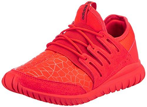 adidas Tubular Radial J, Scarpe da Ginnastica Unisex-Bambini, Rosso (Red/Red/Cblack), 37 1/3 EU