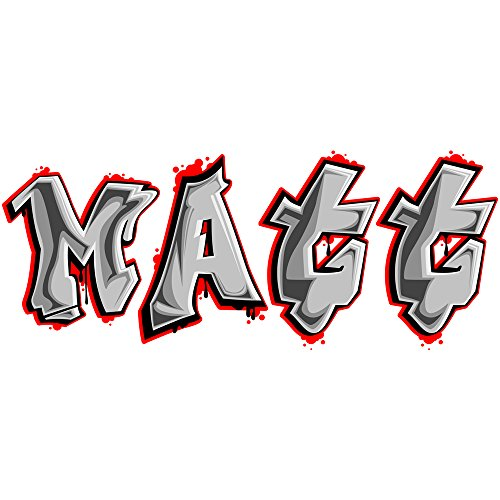 Customizable Large Graffiti Letters, Names and Words Wall Decals