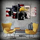 WKXZZS Tabla decoración Bandera Americana Bald Eagle Soldiers -...