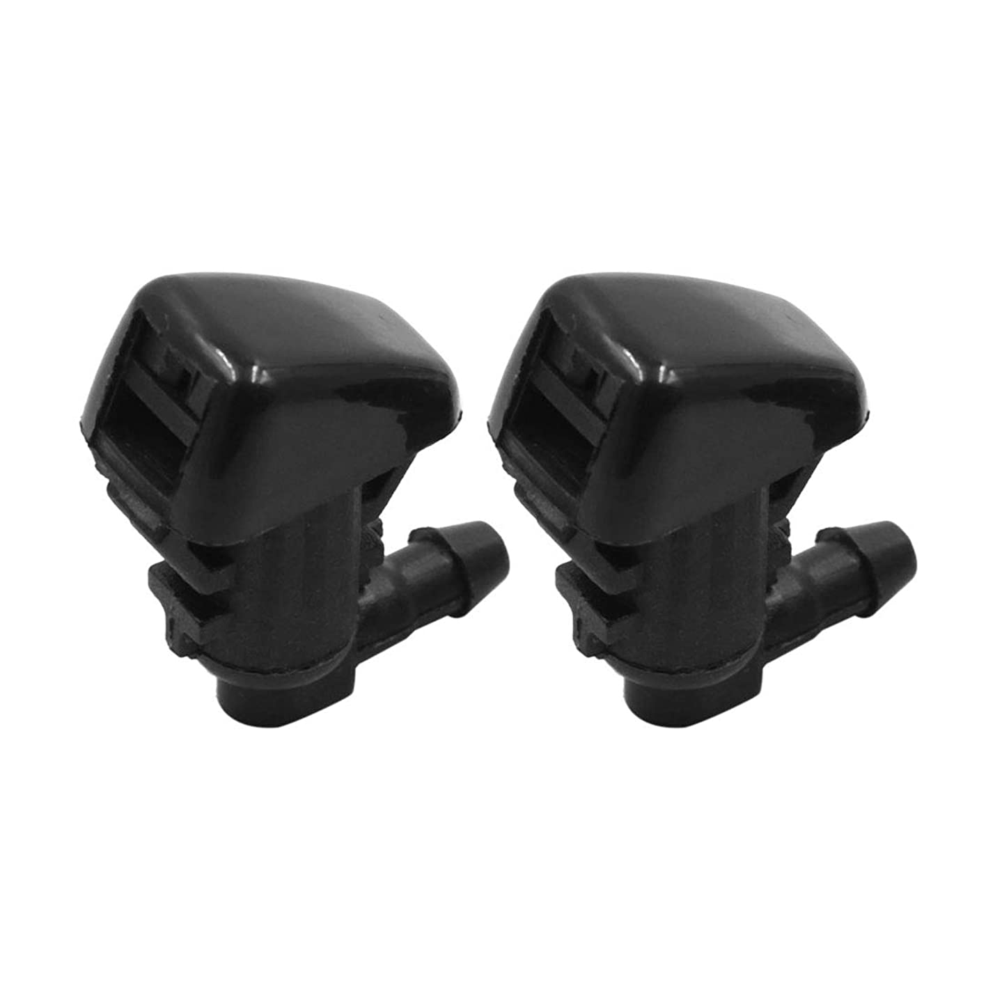 X AUTOHAUX 2pcs Black Plastic Front Windshield Wiper Nozzles 55079049AA for Jeep Grand Cherokee 2005-2016