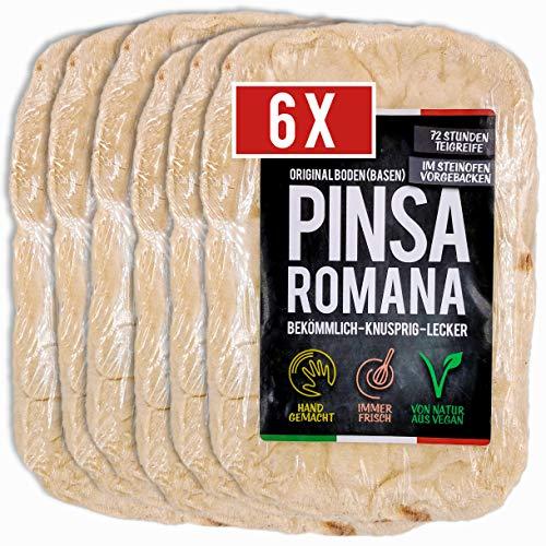 6 x Pinsa Original, Pinsa Romana, Pinsa Teig ofenfertig, vorgebackem im Steinofen