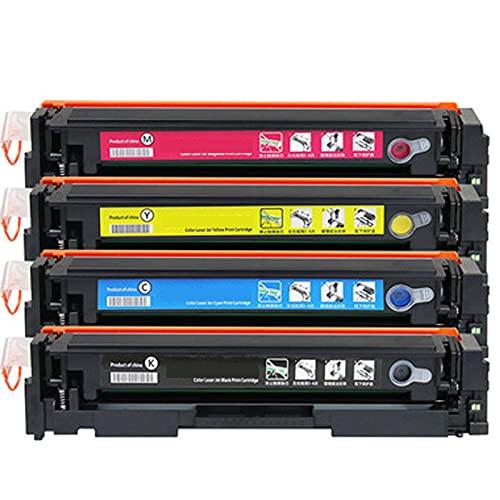 Compatible para el reemplazo de Cartucho de tóner HP 201A para HP Color Laserjet Pro M252N 252DW MFP M277N 277DW 274N Impresora, Oficina en casa, impresión Suave Res Combination