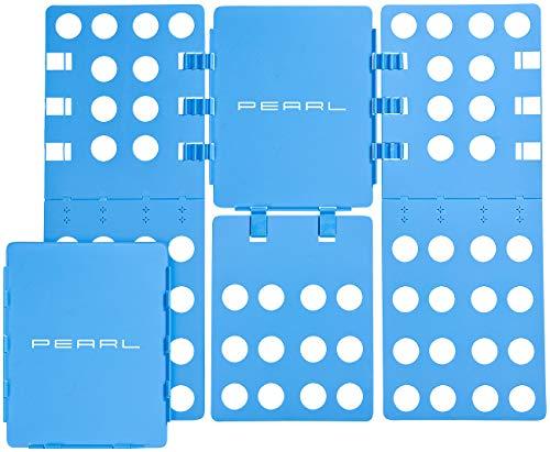 PEARL Hemden Falten: 2er-Set Wäsche-Faltbretter für Hemden & Co, 68x57 cm, blau, klappbar (Falthilfe)