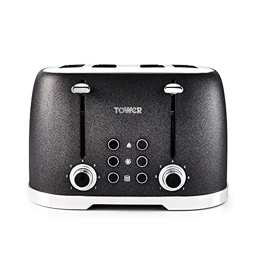 Tower T20030 4-Slice Toaster with 7 Variable Browning Control, Defrost,...