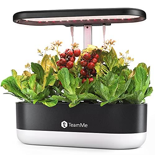 TeamMe Hydroponics Growing System, Indoor Herb Garden Starter Kit with LED Grow Light, Smart Garden...