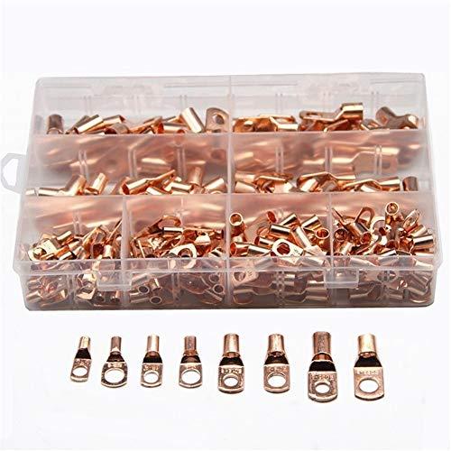 WFBD-CN Batterieklemmen 240 PCS Copper Lug Ring Drahtverbinder Bare Kabel Strom Crimp Termin