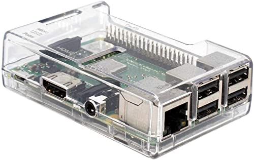 SB Components Clear Case for Raspberry Pi 3 Model B+, B Plus, Raspberry Pi Mode B+ Clear Case or Box