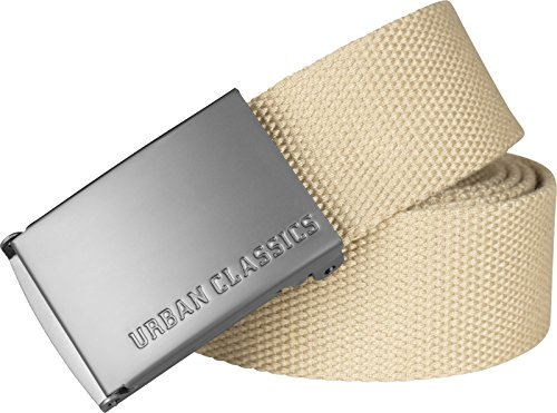 Urban Classics Unisex Canvas Belts Gürtel, beige, one size