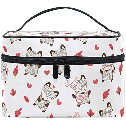 Trousse de Maquillage Cartoon Pink Rabbit Travel Cosmetic Bags Organizer Train Case Toiletry Make Up Pouch