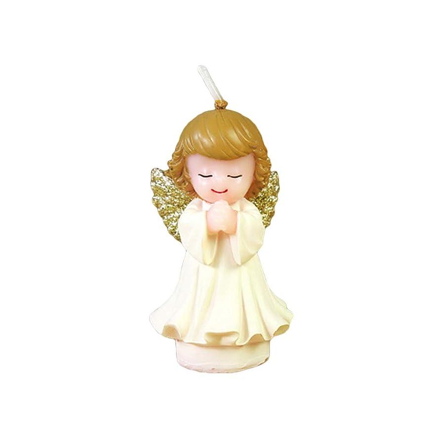 緑一人で任意BESTOYARD 天使の蝋燭赤ちゃんの女の子の幼児のためのかわいい天使の誕生日の装飾の技術のろうそく