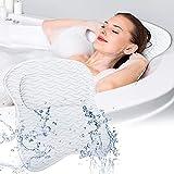 Bath Pillow SAWAKE Bathtub Pillow,Ergonomic Bath Pillows with 3D Air Mesh,Breathable Bath Accessories for Women & Men,Helps Support Head, Shoulder and Neck, Fits All Bathtub, Hot Tub, Home Spa
