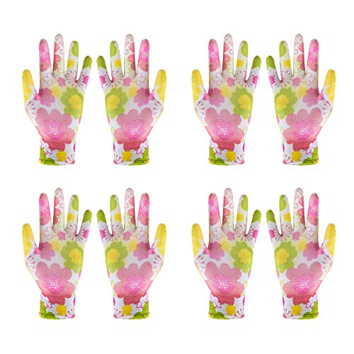 UCEC 4X Gartenhandschuhe Rosenhandschuhe für Damen, Handschuhe GartenhandschuheDornenfest für Garten und Arbeit