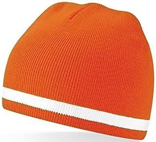 Holland Nederland Nederlandse Cricket/Voetbal Oranje & Wit Kleuren Wollige Beanie Hoed
