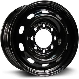 RTX, Steel Rim, New Aftermarket Wheel, 17X7, 8X180, 124.1, 30, Black finish X43786