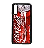coque-personnalisable® Coque pour Huawei P30 Lite Coca-Cola Rouge Original - Contour Silicone Noir...