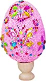 Uova Decorative di Pasqua, Uova di Pasqua Materiali Fatti a Mano per Bambini Giocattoli per Fabbricazione Fai-da-Te Uova Creative dipinte con Fiocchi di Neve e Fango Ideale per attività Manuali-Rosa