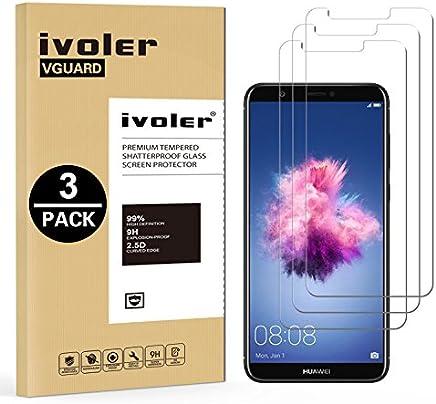 iVoler [3 Unidades] Protector de Pantalla para Huawei P Smart, Cristal Vidrio Templado Premium