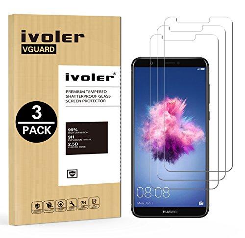 ivoler [Pack de 3] Verre Trempé pour Huawei P Smart, Film Protection en Verre trempé écran Protecteur vitre