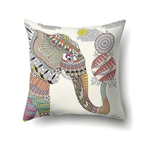 jufn gutyhkj 45 * 45Cm Dos Fundas De Almohada Exquisitas Serie Animal Funda De Cojín Impresa Decoración De Sofá De Dibujos Animados