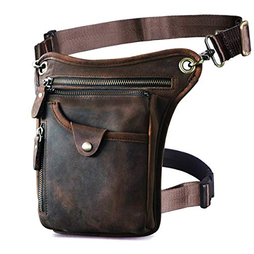 Leather Hip Bag For The Fashionable Easy-Going Men