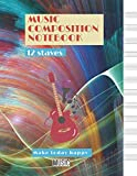 Music Composition Notebook for kids, Interplay of vibrant strand of colors on the subject of creativity and art cover, 12 staves per page, 100 pages - Large(8.5 x 11 inches)