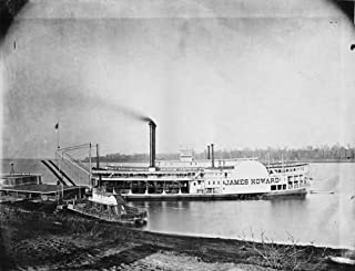 Photo Paddle Boat James Howard Ohio River Cairo Bridge