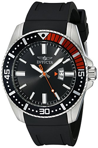 Invicta Men's Pro Diver 48mm Stainless Steel and Black Silicone Quartz Watch, Black (Model: 21392)