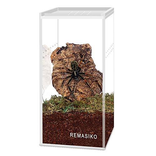 REMASIKO Magnetic Acrylic Reptile Cage 3'x3'x6' Nano Tall Enclosure Transparent Reptile Breeding Box Terrarium Tank Tarantula Scorpion Sling Isopods Invertebrates Insect Mantis