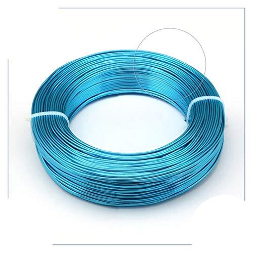 DAXINYANG Colorful Linght 1 interrelación de Alambre de Aluminio Hallazgos para la fabricación de Joyas Pulsera de Bricolaje Collar de Bricolaje 0.8mm 1 mm 1,5 mm 2mm 3mm 4mm 5mm 6mm 23 Colores