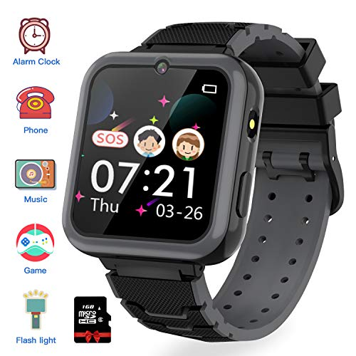Kinder SmartWatch Phone Digital Camera Watch with Games Music Player Alarm Clock and 1.44 inch Touch LCD for Jungen und Mädchen Birthday