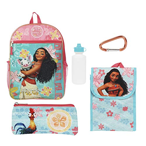Disney Moana Blue and Pink Back to School Essentials Value Set for Girls