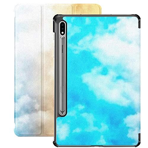 Funda Galaxy Tablet S7 Plus de 12,4 Pulgadas 2020 con Soporte para bolígrafo S, aro de Baloncesto en la cancha bajo Espectacular Funda Protectora Tipo Folio con Soporte Delgado para Samsung
