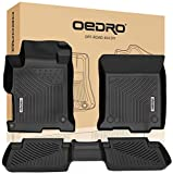 OEDRO Floor Mats Compatible for 2013-2017 Honda Accord Sedan, Black TPE All Weather Guard, 1st and 2nd Row Liners Set