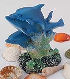 Edel 3er Delfine (hoch schwimmend) 11,5 cm toller Deko-,Sammerposten Maritimer GESCHENKTIP 4093